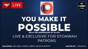 IMPORTANT ANNOUNCEMENT FOR EFDAWAH PATRONS ‼️